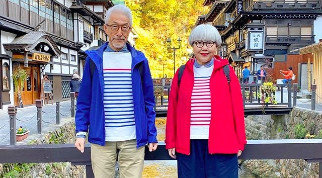 japanese couple wear matching outfits